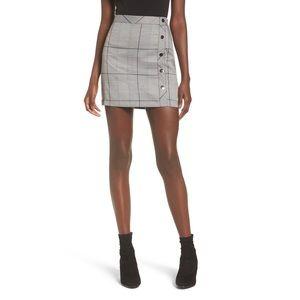 J.O.A. Plaid Button Skirt
